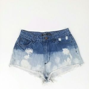 UA BDG high rise cheeky distressed ombre bleached